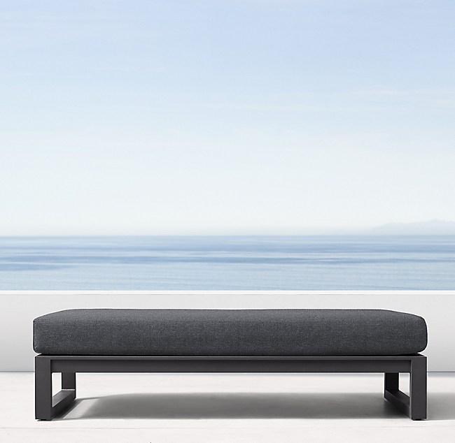 Admirable Aegean Aluminum Coffee Table Ottoman Machost Co Dining Chair Design Ideas Machostcouk
