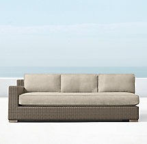 Biscayne Luxe Three-Seat Left-Arm Sofa