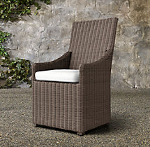 Woven Belgian Slope Arm Armchair