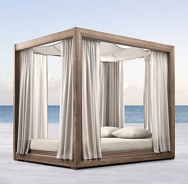 Costa Teak Canopy Daybed