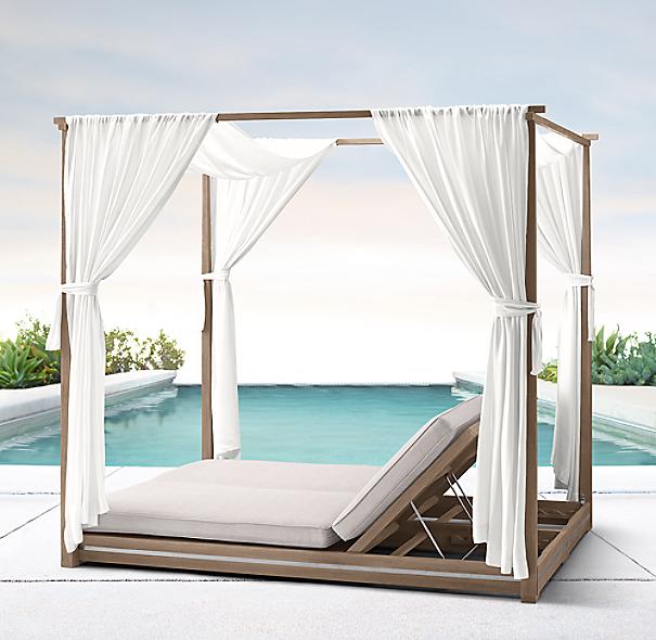 Malta Canopy Double Chaise Cushions