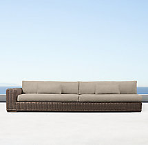 Majorca Luxe Three-Seat Left-Arm Sofa