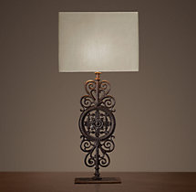 Parisian Iron Gate Table Lamp