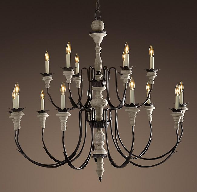 parisian wood zinc chandelier 47