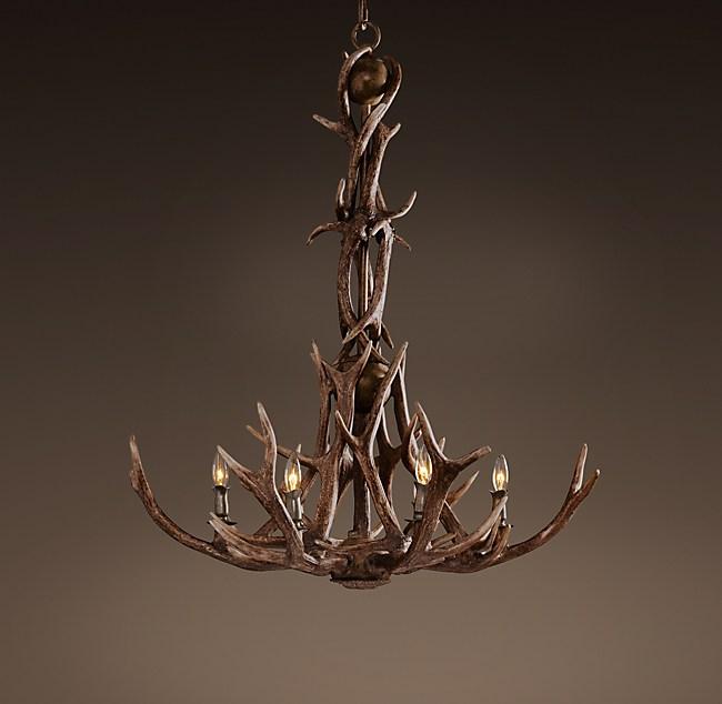 Adirondack antler chandelier aloadofball Image collections