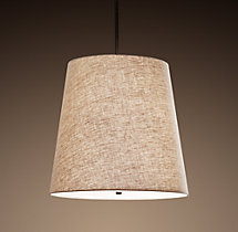 Barrel Shade Linen Pendant