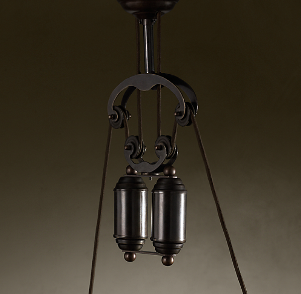 cartesian pulley double pendant. Black Bedroom Furniture Sets. Home Design Ideas