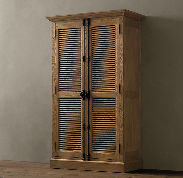 Shutter double door cabinet - Restoration hardware cabinets ...