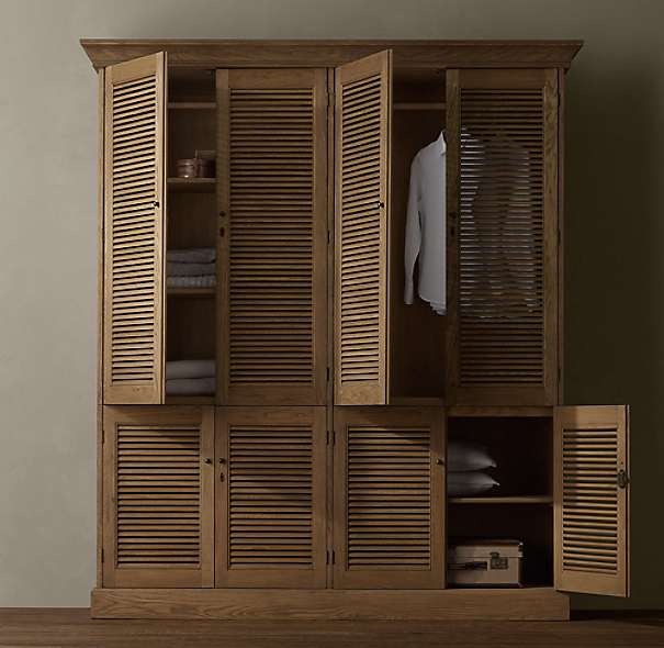 Shutter double armoire for Armoire penderie chambre
