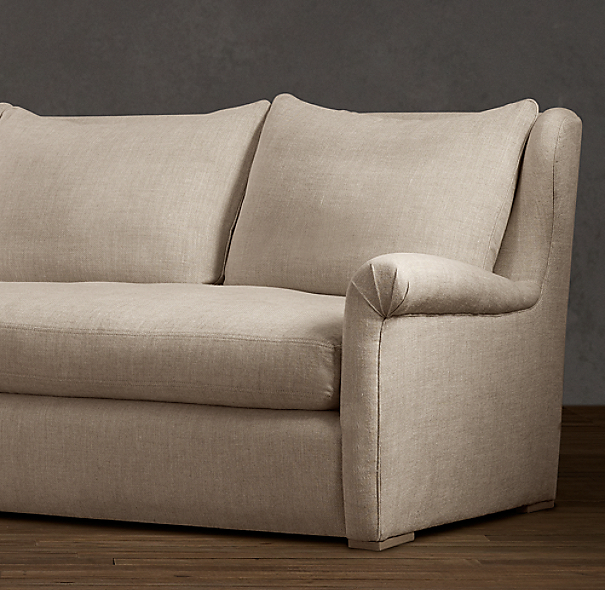 Belgian Wingback Upholstered Sofa