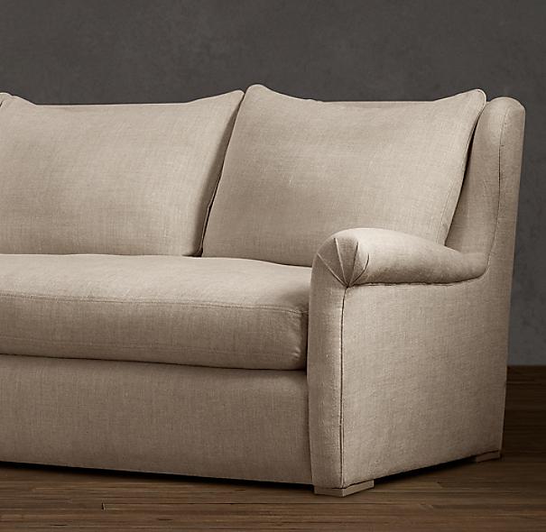 10' Belgian Wingback Upholstered Sofa