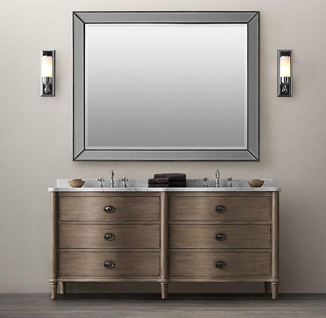 Empire Rosette Double Vanity