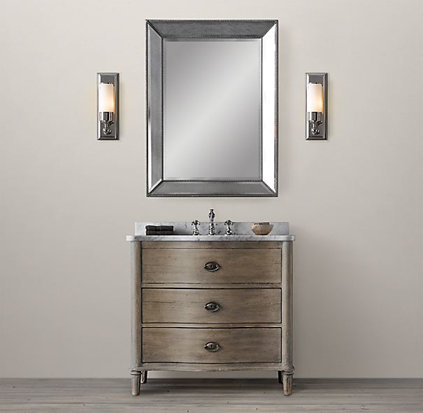 Restoration Hardware Bathroom Vanity Knockoff: Empire Rosette Single Vanity