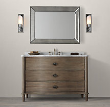Empire Rosette Extra-Wide Single Vanity