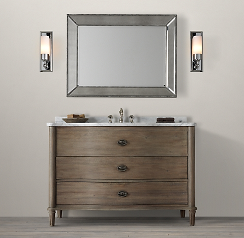 Empire Rosette Single Extra Wide Vanity