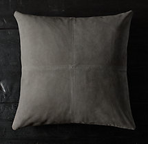 Cowhide Suede Pillow Cover - Square