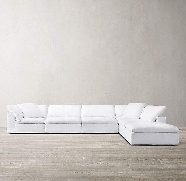 Cloud Modular Slipcovered L Sectional