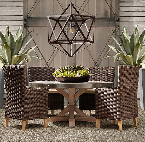 Steel polyhedron pendant - Restoration hardware patio ...