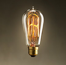 ST18 Amber Squirrel-Cage Filament Incandescent Bulb