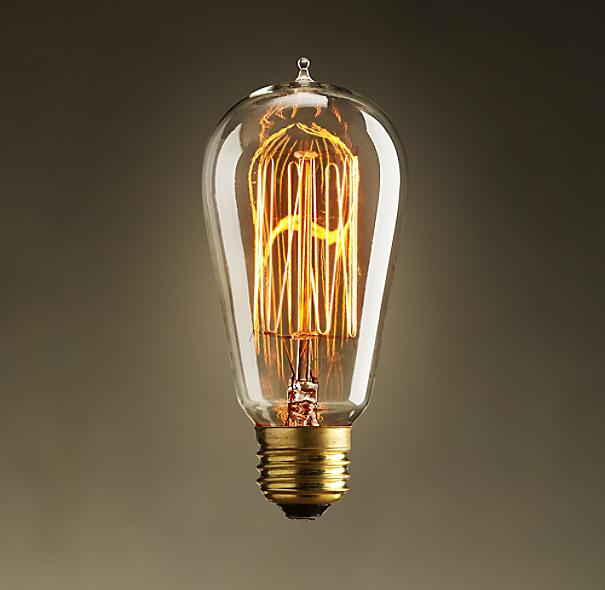 ST18 Amber Squirrel-Cage Filament Incandescent Bulb