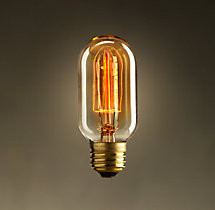 "T14 4¼"" Tube Amber Incandescent Bulb"