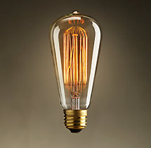 S20 Amber Squirrel-Cage Filament Incandescent Bulb