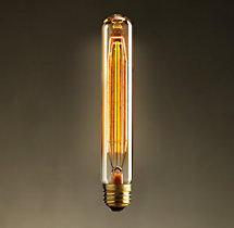 "T10 7½"" Tube Amber Incandescent Bulb"