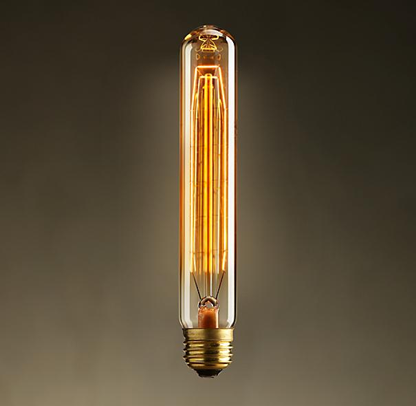 vintage cylinder filament amber bulb 1 diam 7 l. Black Bedroom Furniture Sets. Home Design Ideas