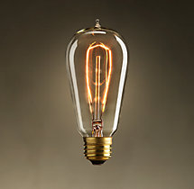 ST18 Single-Loop Filament Incandescent Bulb