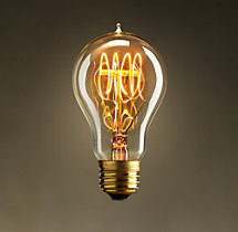A19 Amber Quad-Loop Filament Incandescent Bulb