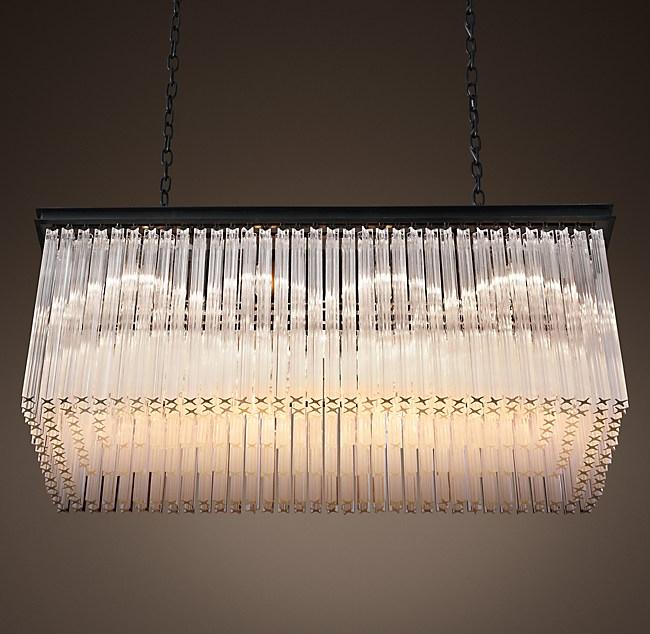 1930s astor crystal rectangular chandelier 40 aloadofball Image collections
