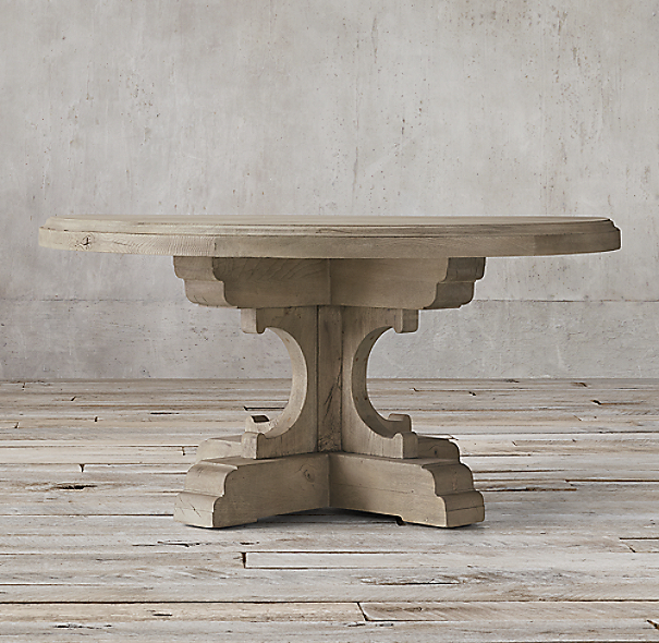 17th C French Bastide Oak Round Dining Table