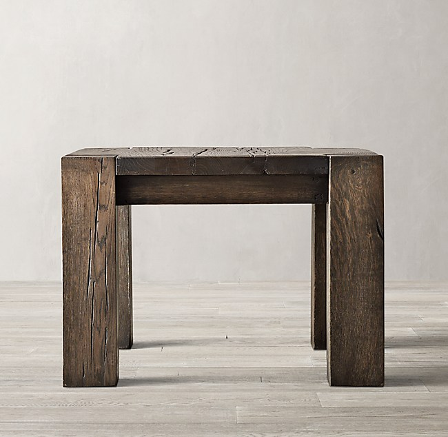 Incredible Reclaimed Russian Oak Parsons Side Table Download Free Architecture Designs Lukepmadebymaigaardcom