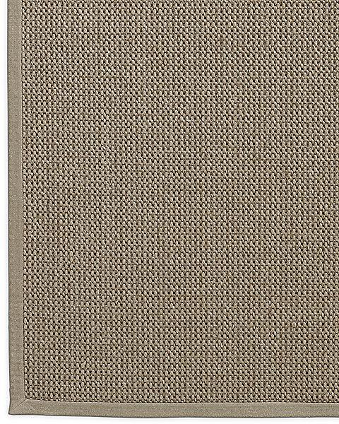 Belgian Textured Wool Sisal Rug Linen