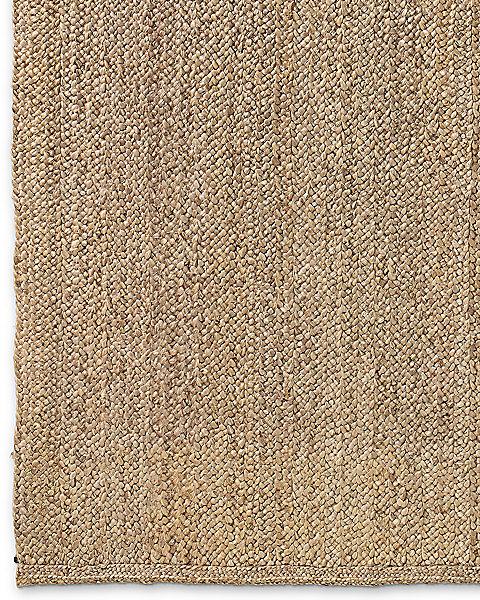 Chunky Braided Jute Rug Linen