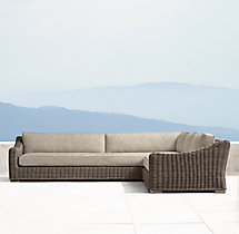 Provence Luxe Left/Right-Arm L-Sectional Cushions