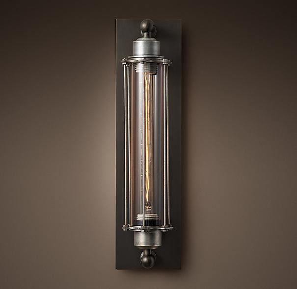 Restoration Hardware Outdoor Lighting Reviews: Grand Edison Glass Sconce
