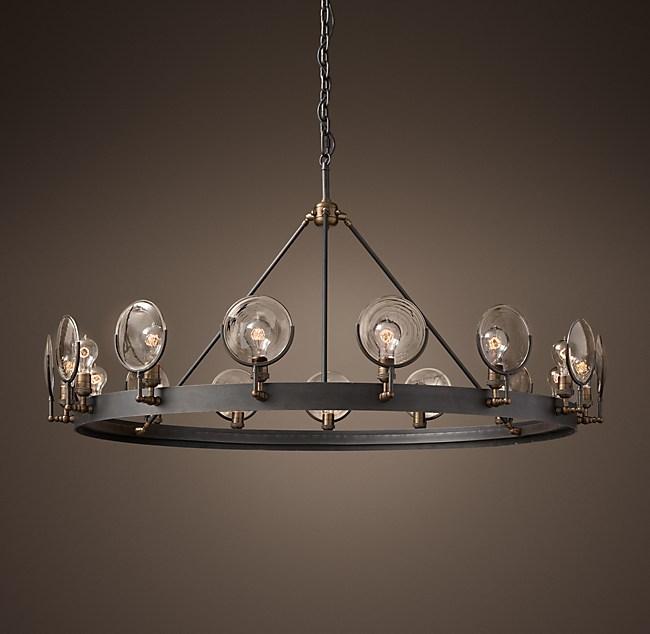 Gaslight lens chandelier 54 aloadofball Choice Image