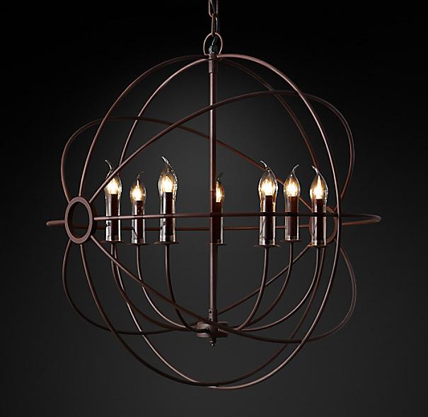 "Restoration Hardware Lighting Orb: Foucault's Orb Outdoor Chandelier 32"""