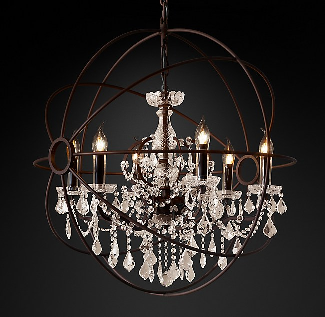 Foucault S Orb Clear Crystal Outdoor Chandelier 32 Quot
