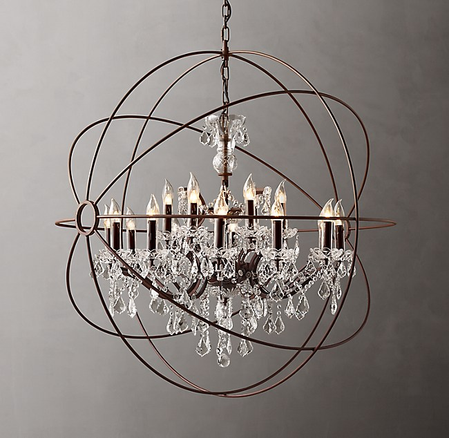 Foucault S Orb Clear Crystal Outdoor Chandelier 44 Quot
