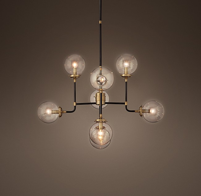 Bistro Globe Clear Gl 8 Light Chandelier