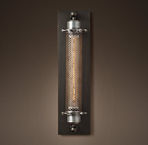 Grand Edison Perforated Metal Sconce