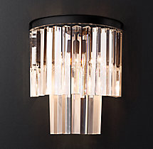 1920S Odeon Clear Glass Fringe Sconce