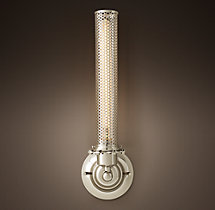 Edison Metal Perforated Tall Sconce