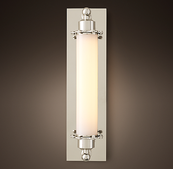 Grand Edison Milk Glass Sconce