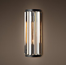 Welles Clear Crystal Sconce - Grey Iron