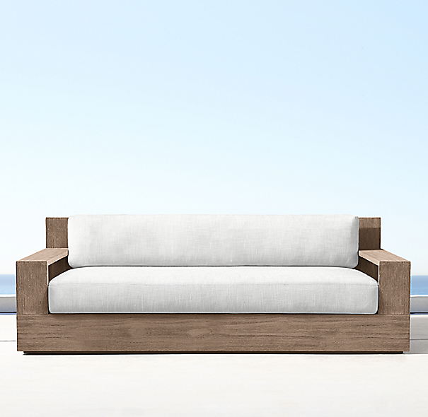 60 marbella teak classic sofa cushions for Sofa exterior marbella