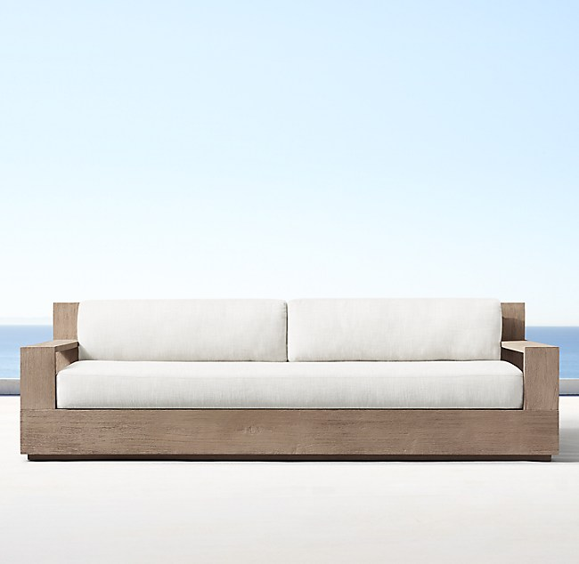 84 Marbella Teak Clic Sofa Weathered