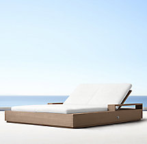 Marbella Teak Double Chaise